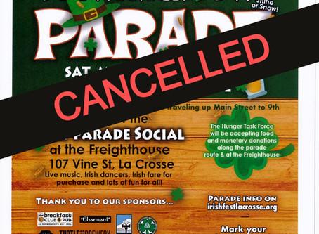 Saint Patrick's Day Parade-cancelled