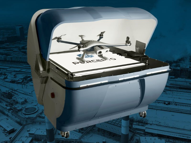 Percepto autonomous drone-in-a-box system