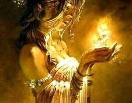 Ciepło płomienia, czyli Wiedźma zapala świeczkę.