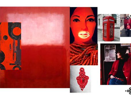 Mood board pour la nouvelle collection, red dingue