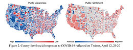 Tracking social and governmental responses to COVID-19 using geospatial big data