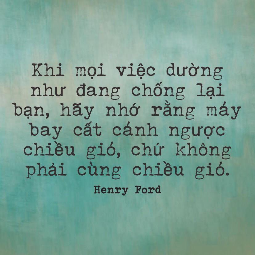Máy bay cất cánh ngược chiều gió - Henry Ford