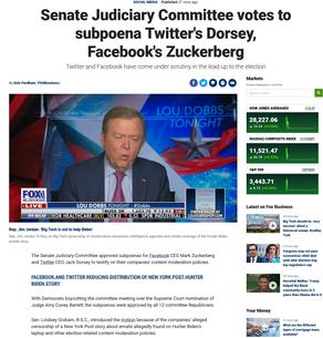 Senate Judiciary Committee votes to subpoena Twitter's Dorsey, Facebook's Zuckerberg