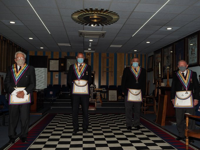Freemasonry - Well done to the four members of Goddard RAM No 401 in Swindon