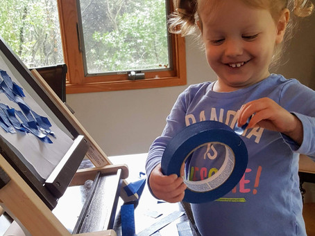 5 Ways Playing with Tape Can Improve Fine Motor Skills!