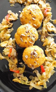 Rollitos de carne rellenos de Mousse de Pato