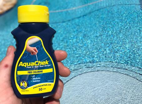 Testing Your Pool Water with AquaChek Test Strips
