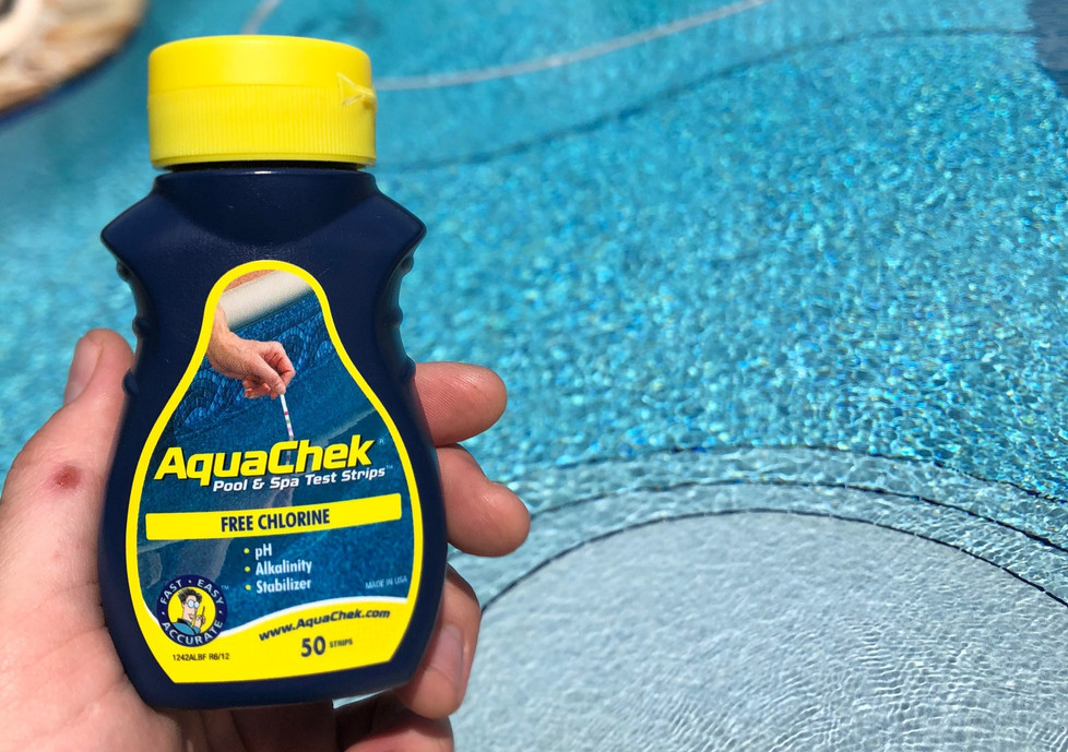 Testing Your Pool Water with AquaChek Test Strips