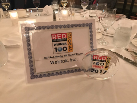 Webtalk earns GLOBAL TOP 100 Award