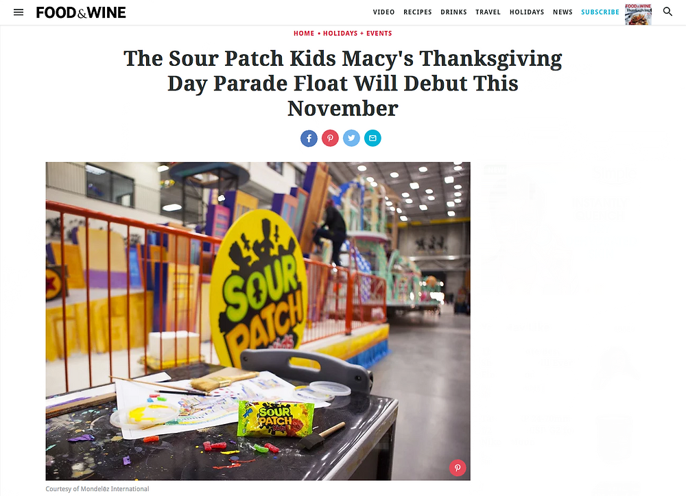 Sour Patch Kids Macy's Day Parade Float 2017