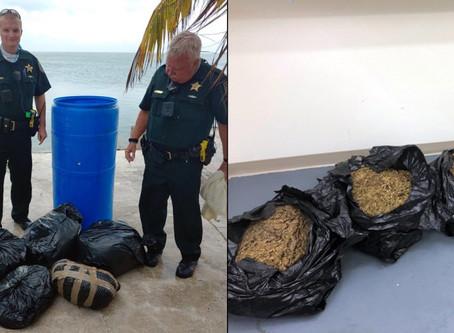 90 pounds of Marijuana washed ashore in the Florida Keys