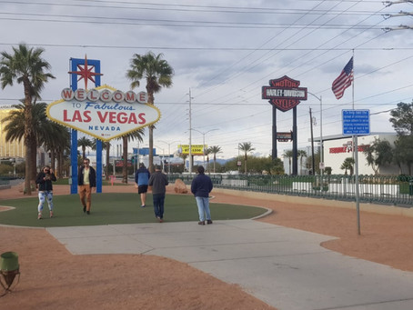 Walking through Las Vegas during the coronavirus pandemic