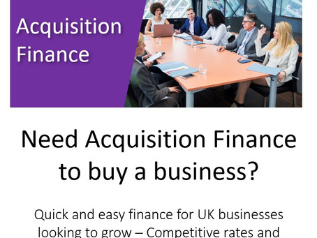 Get Acquisition Finance to grow your business in 2021