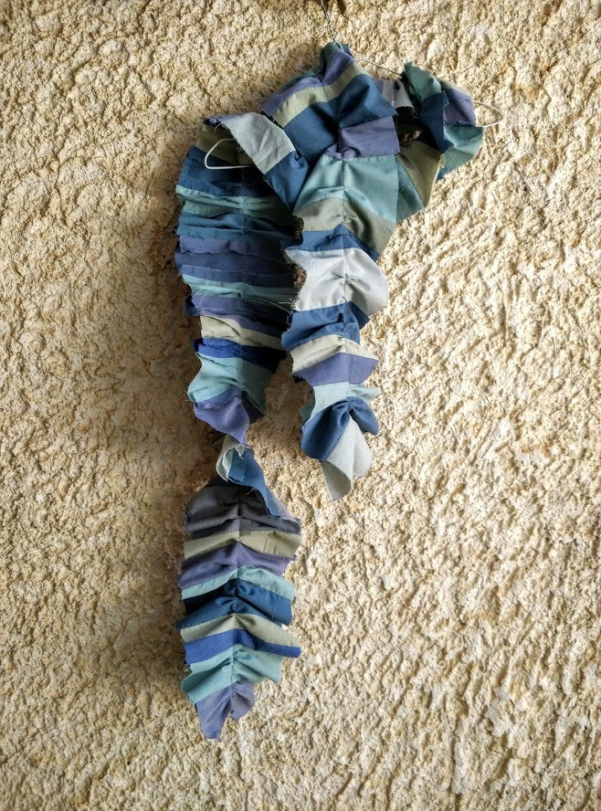 Ruffled remnant scarf