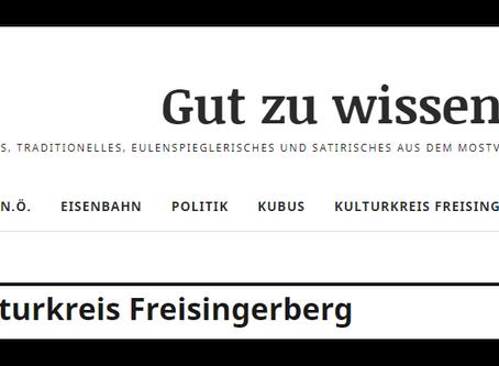 Kulturkreis Freisingerberg ist wieder da!