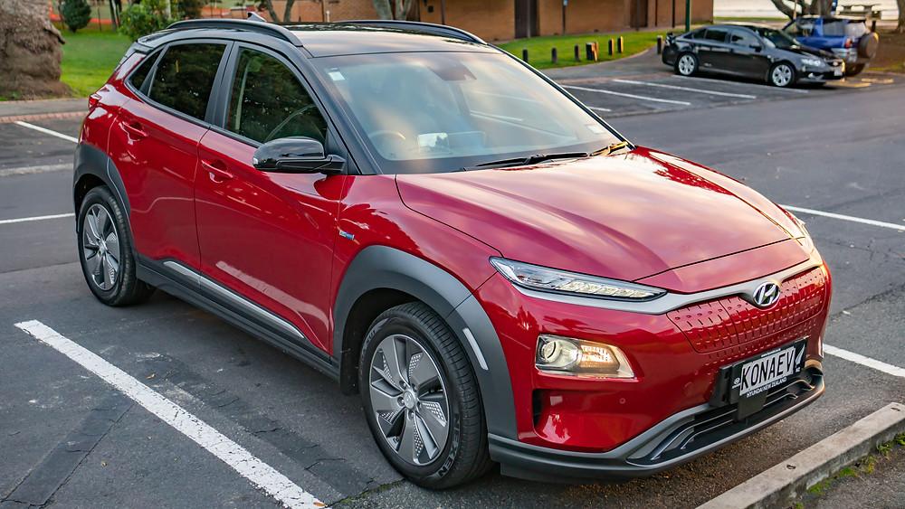Hyundai Kona Electric red New Zealand