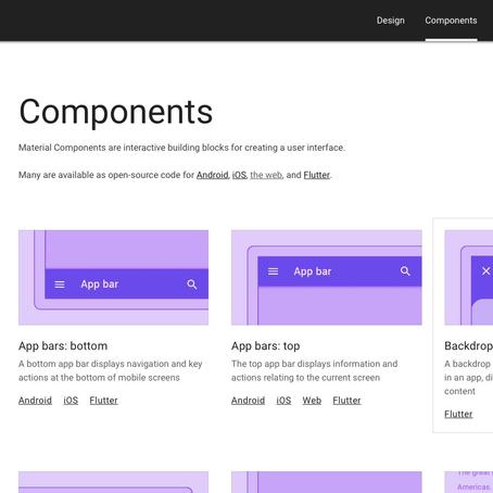 Caixa de ferramentas para design de telas