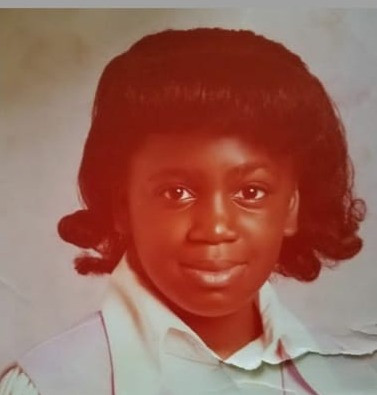 Jackie Capers-Brown in fifth grade