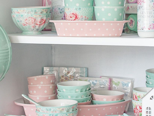 Home Decor: pastel colors with Greengate