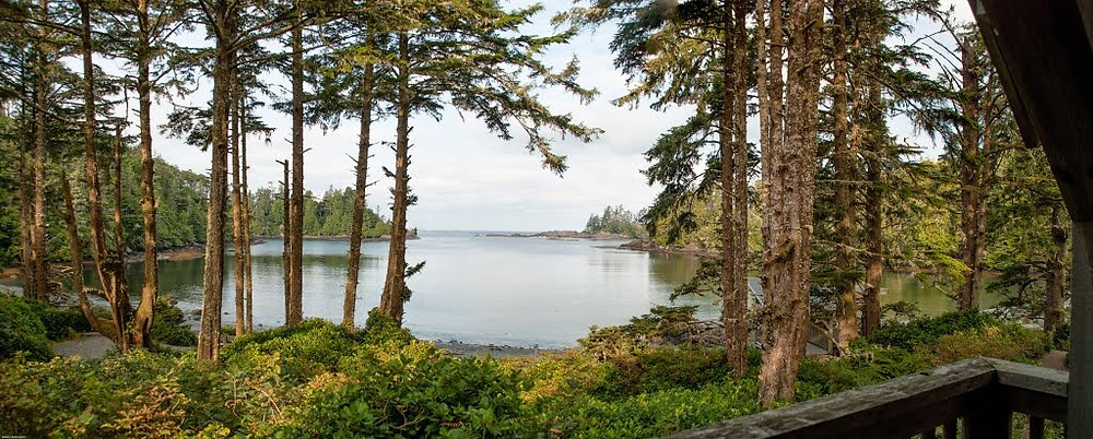 Canadian Adventure Destination worth visiting, the Ucelet. Here is the view from the porch.