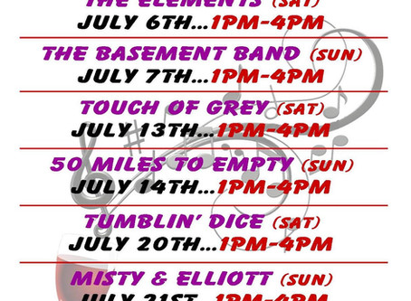 MUSIC ON THE DECK-JULY