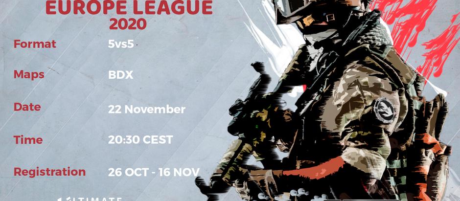 Registration Europe League 2020