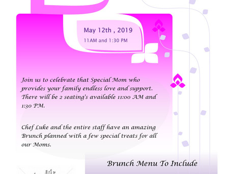 Mother's Day Brunch, May 12