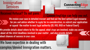 Received refusal?Denied Entry to Canada? Don't despair ! Contact ConnectingEdge.