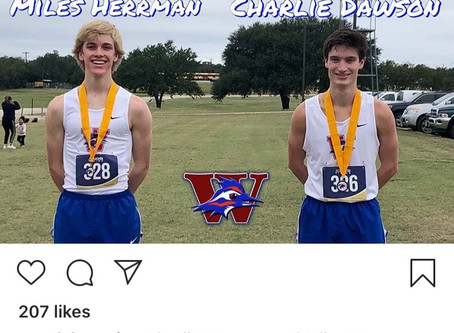 Gold & Silver for Dawson & Herrman Chap Cross Country At Liberty Hill Invitational