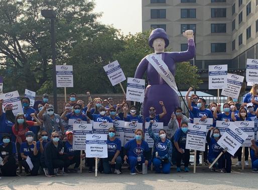 #StrikeforOurLivesUIC: Mother Jones on the Line with SEIU 73 & Illinois Nurses Association