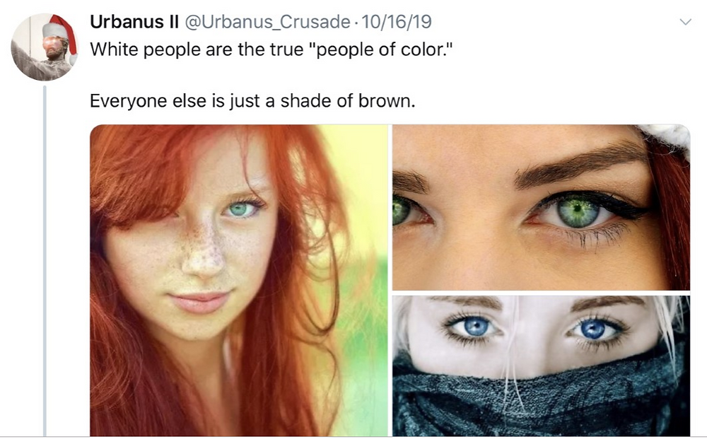 "People with brown features are not ""people of color"""