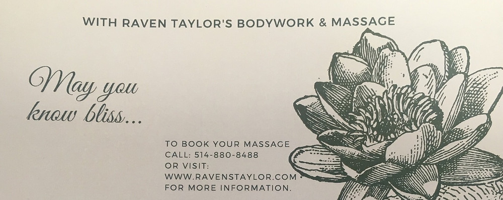 Massage Gift Certificate Printed