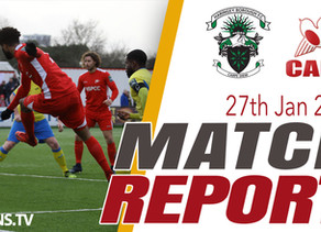 Match Report - Haringey Borough