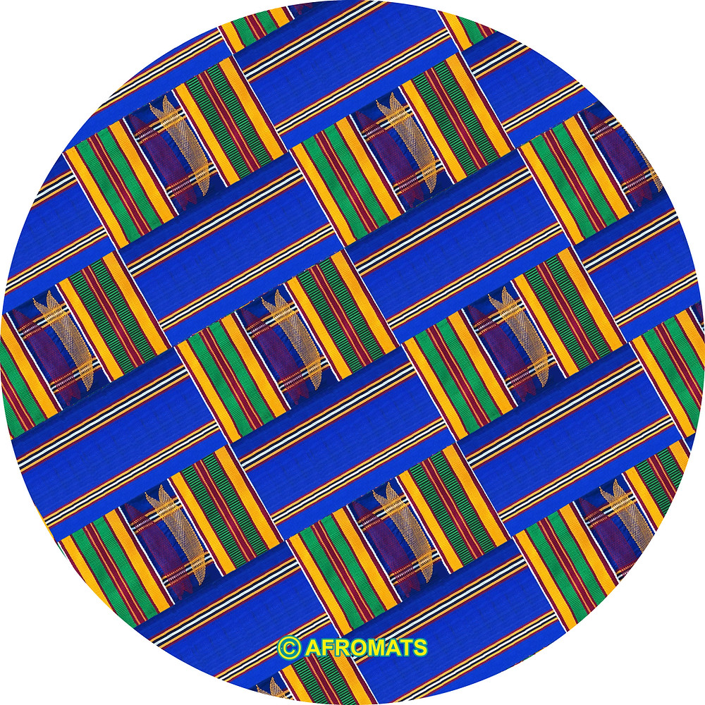 Royal Blue Kente Afromats Slipmat