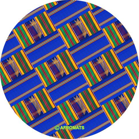 Afromats Royal Blue Kente slipmat arrives in time for the festive season