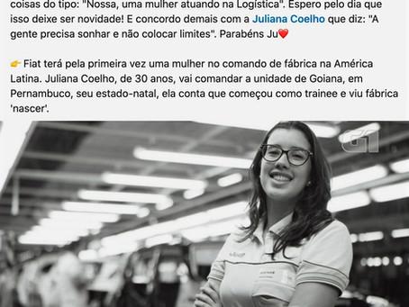 """Brasileira que será 1ª Mulher a chefiar fábrica da Fiat diz: """"Rompemos uma barreira"""""""