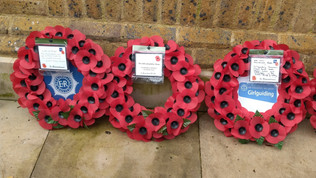 Wreath laid at the Carshalton Memorial