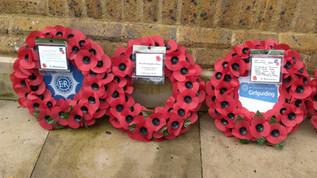 Wreath laid at the Carshalton Memorial