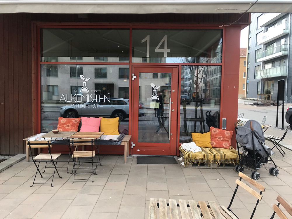 """Alkemisten"" is a real Hipster Coffee Bar in Gothenburg, Sweden. Great coffee unlikely anything else!"