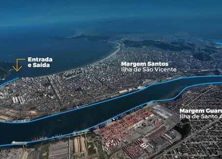 Porto de Santos crescendo no Brasil.