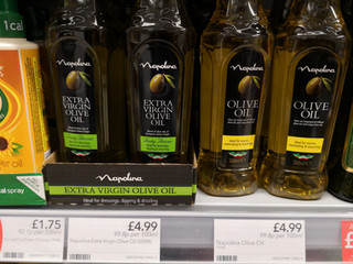 Olivenölangebot in Schottlands Coop