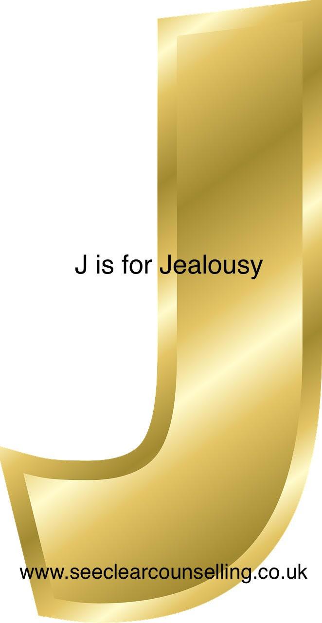Gold letter J for Jealousy