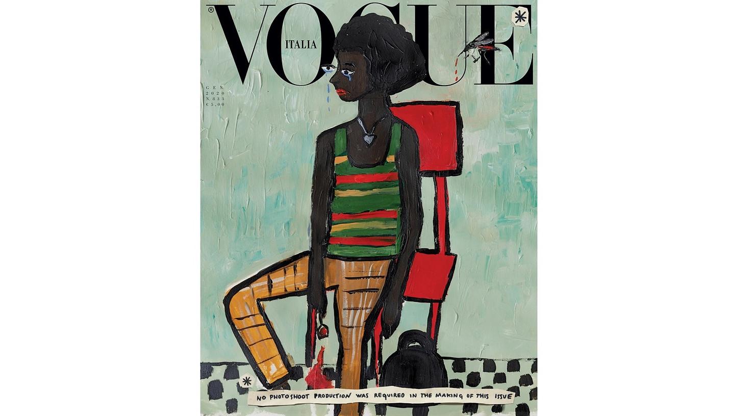 Vogue Italia Cover featuring Olivia Vinten