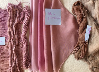 Dyeing Natural Mauve Tones