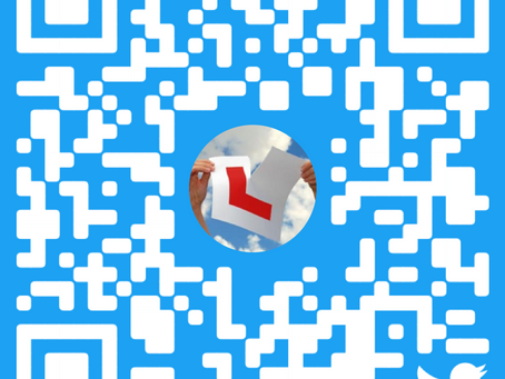 The QR code for our Twitter page;