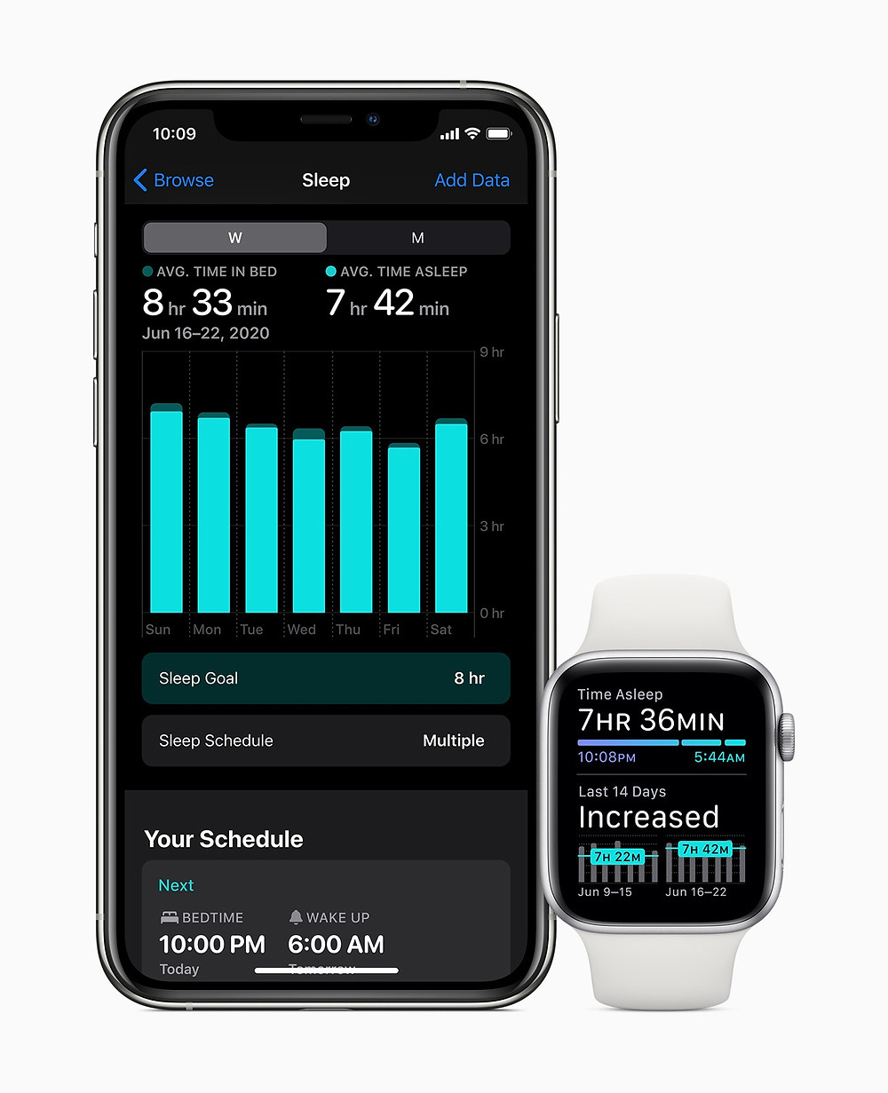 Sleep tracking comes to Apple Watch with watchOS 7 in the fall.