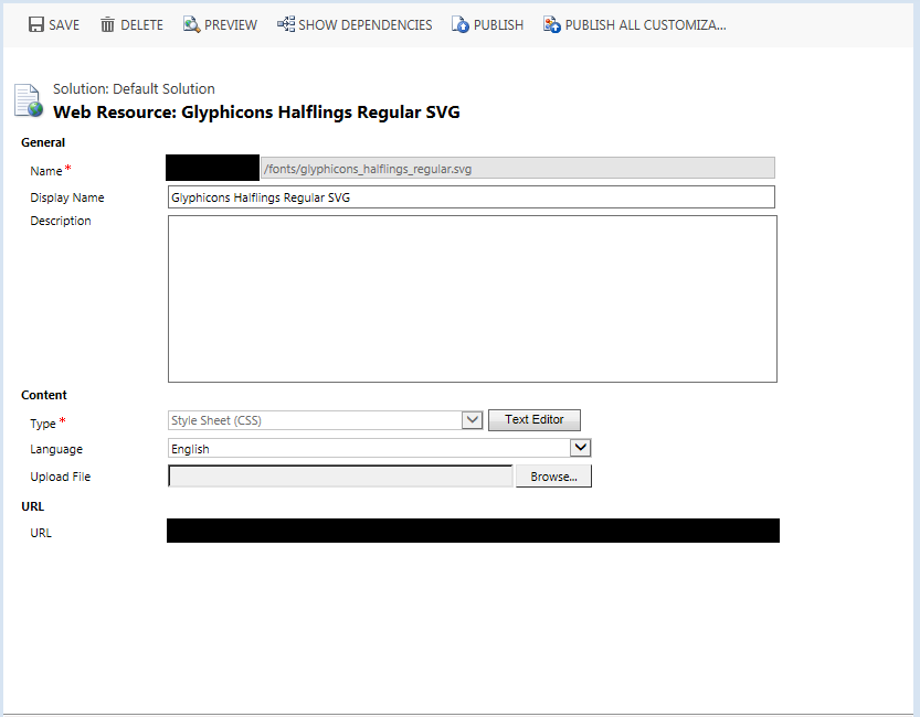 SVG Web Resource in CRM
