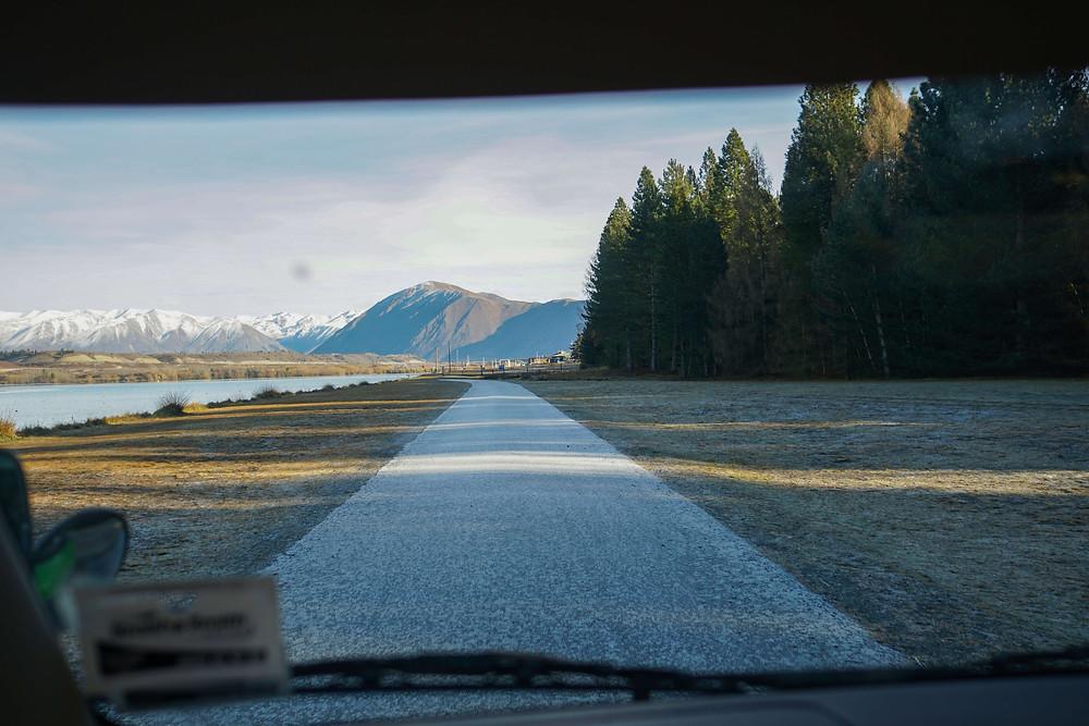 Road South Island New Zealand Twizel Ruataniwha Alpine