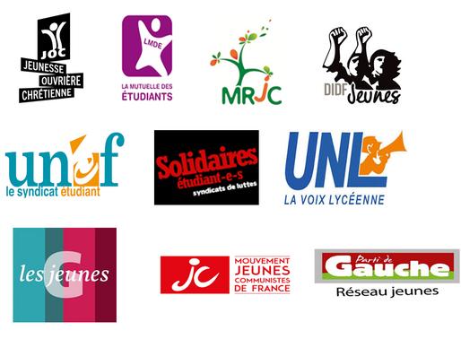 Appel des organisations de jeunesse et syndicats à la mobilisation le 9 octobre !