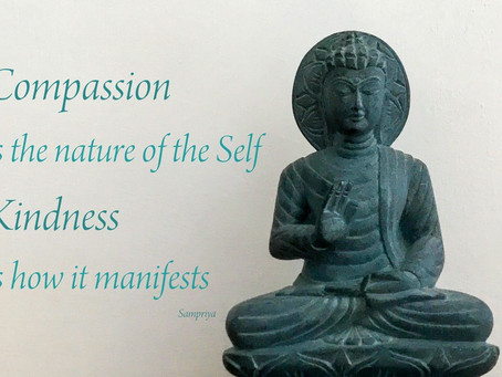 Compassion is the nature of the Self - Kindness is how it manifests...